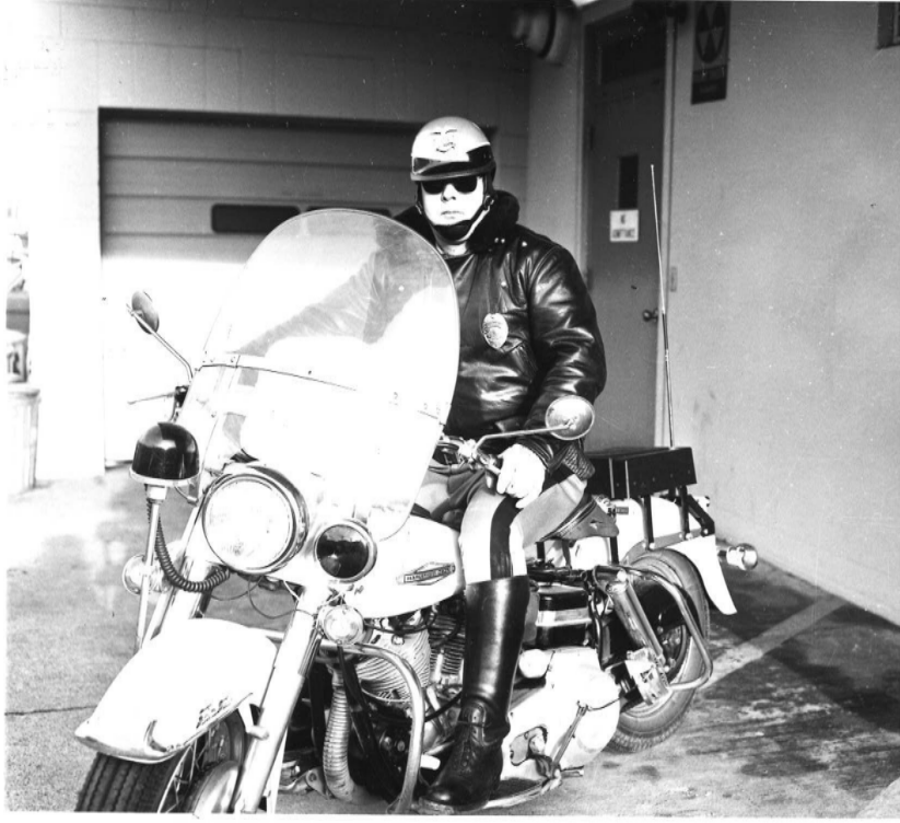 Port Angeles Police Department Motor Officer, circa 1970