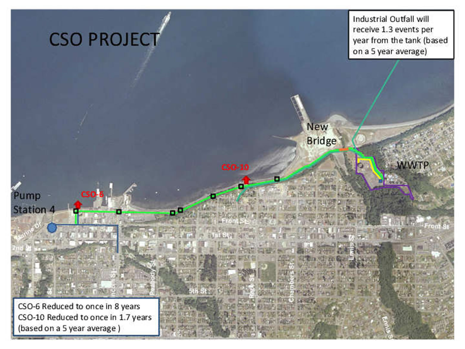 Combined Sewer Overflows Project Area Map