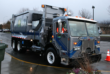 City of Port Angeles garbage truck.