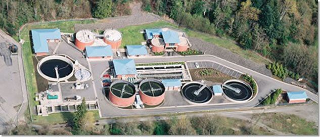Aerial shot of the Wastewater Plant