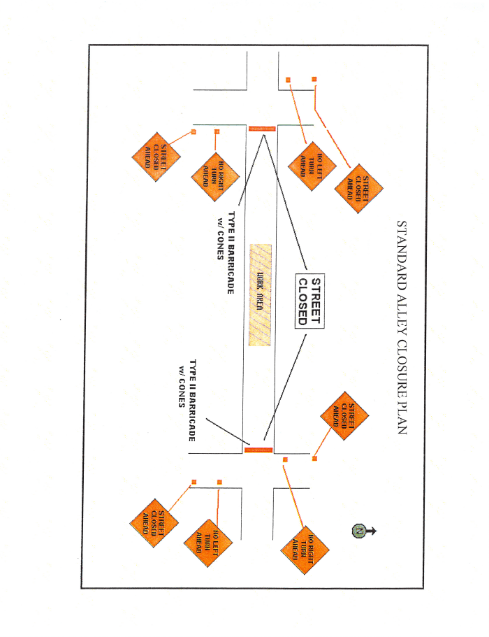Alley Closure Standard Traffic Control Plan Image