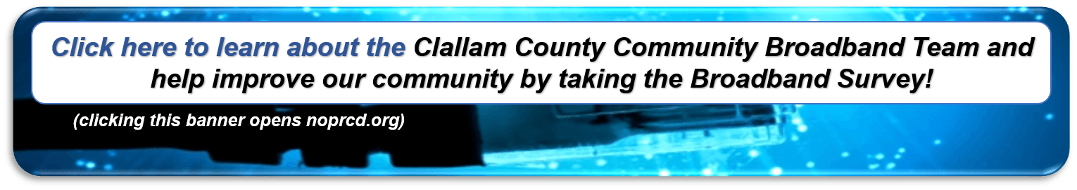 Banner for the Clallam County Broadband Team