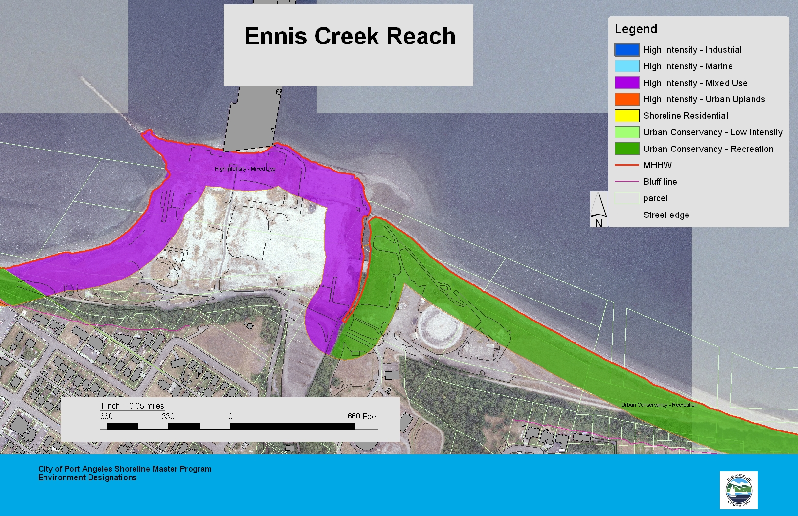 Ennis Creek Reach Map